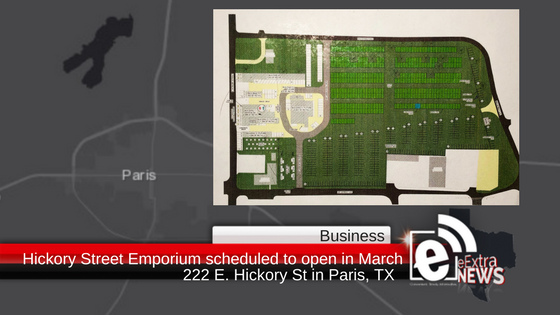 Regional news: Hickory Street Emporium scheduled to open in Paris in March with hundreds of vendors