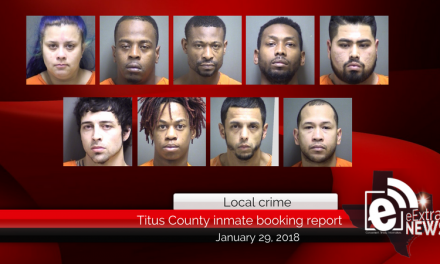Titus County inmate booking report || January 29, 2018