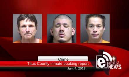 Titus County inmate booking report    Jan 4, 2018