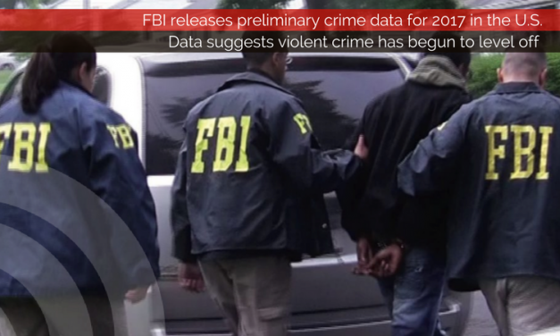 FBI releases preliminary crime rate data for 2017 in the U.S.