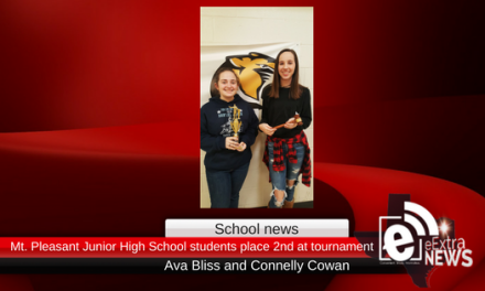 Mt. Pleasant Junior High School students make their mark at debate competition