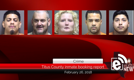 Titus County inmate booking report || February 26, 2018