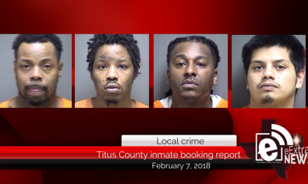 Titus County inmate booking report    February 7, 2018