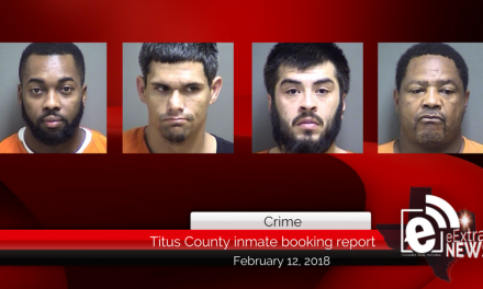 Titus County inmate booking report || February 12, 2018
