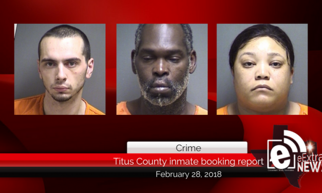 Titus County inmate booking report || February 28, 2018