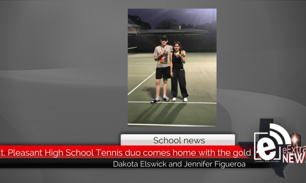 Mt. Pleasant High School Tennis duo comes home with the gold
