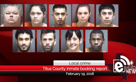 Titus County inmate booking report || February 19, 2018