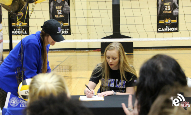 Mt. Pleasant ISD senior signs letter of intent to play collegiate volleyball