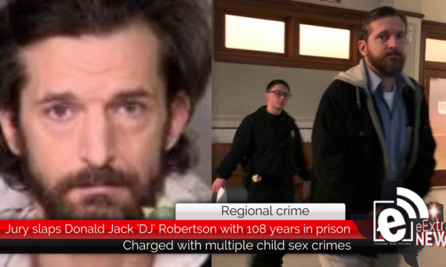 Regional crime: Donald Jack 'DJ' Robertson will serve 108 years for sexually abusing two Lamar County children