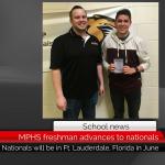 MPHS freshman advances to nationals