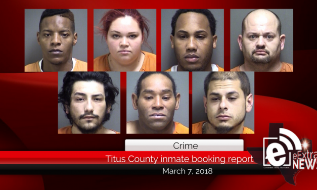 Titus County inmate booking report || March 7, 2018