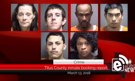 Titus County inmate booking report || March 13, 2018