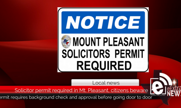 Solicitor permit required in Mt. Pleasant, citizens beware