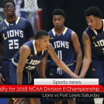 Lions qualify for 2018 NCAA Division II Championship