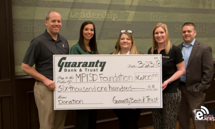 Guaranty Bank and Trust donates to MPISD foundation