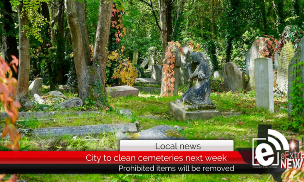 City to clean cemeteries next week – Prohibited items will be removed