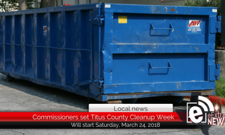 Titus County Commissioners set Titus County Cleanup Week