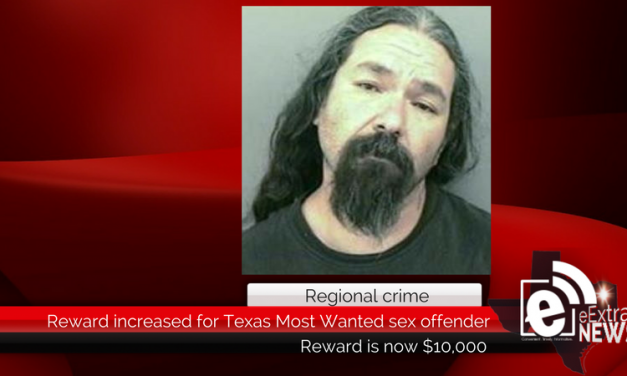 Reward increased to $10,000 for Texas Most Wanted sex offender