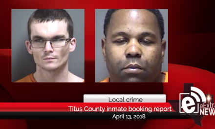 Titus County inmate booking report || April 13, 2018