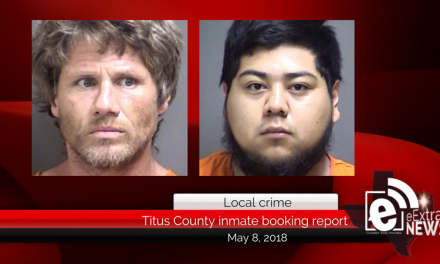 Titus County inmate booking report || May 8, 2018