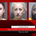 Titus County inmate booking report || May 25, 2018