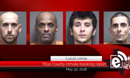 Titus County inmate booking report || May 30, 2018
