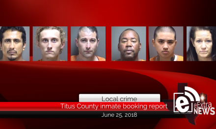 Titus County inmate booking report || June 25, 2018