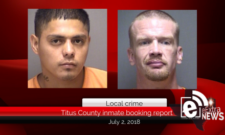 Titus County inmate booking report || July 2, 2018