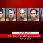 Titus County inmate booking report || July 17, 2018