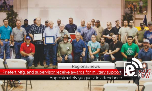 Priefert Manufacturing and supervisor receive awards for military support