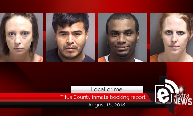 Titus County inmate booking report || August 16, 2018