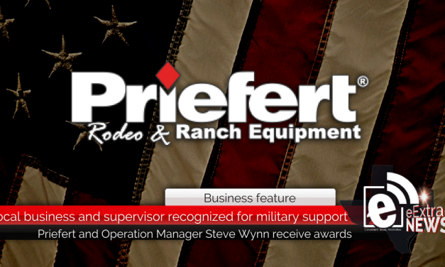 Local business and supervisor recognized for military support
