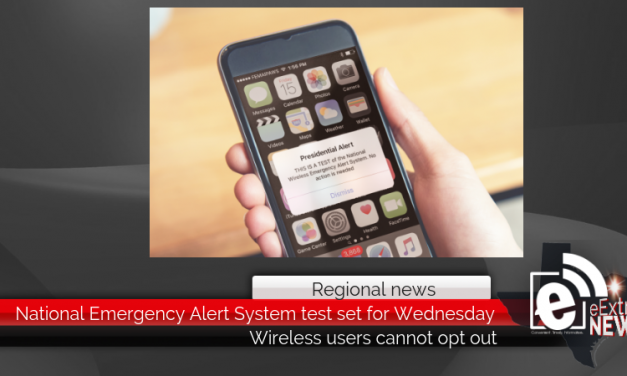 National Emergency Alert System test set for Wednesday