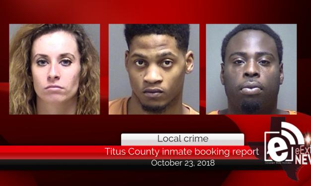 Titus County inmate booking report || October 23, 2018