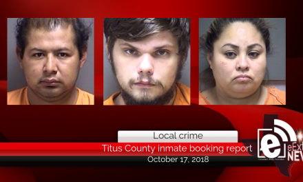 Titus County inmate booking report || October 17, 2018