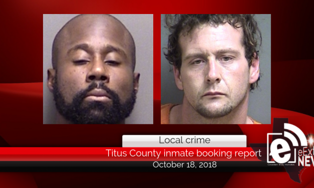 Titus County inmate booking report || October 18, 2018