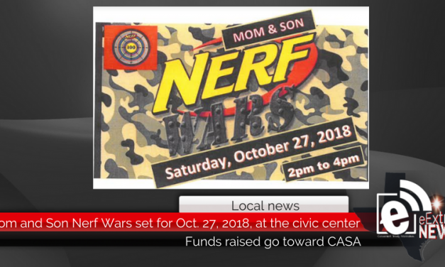 Mom and Son Nerf Wars set for Oct. 27, 2018, at the civic center