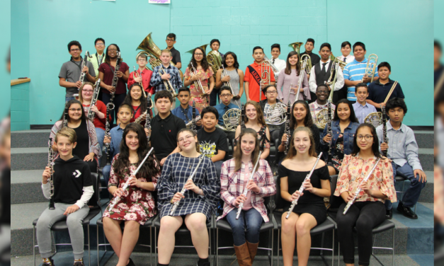 Mount Pleasant Junior High band students make All-Region Band