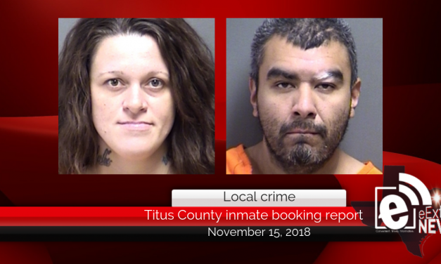 Titus County inmate booking report || November 15, 2018