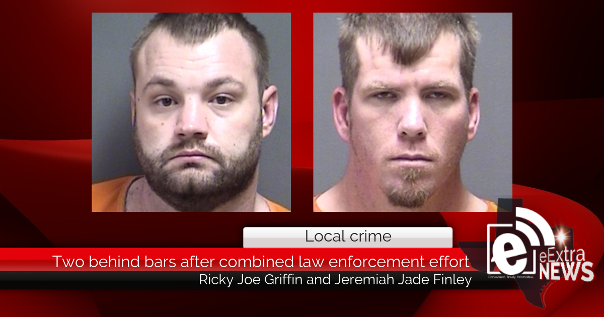 Two behind bars after combined law enforcement effort