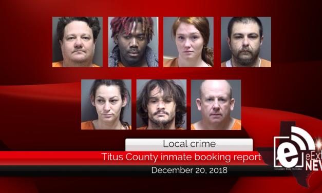 Titus County inmate booking report || December 20, 2018