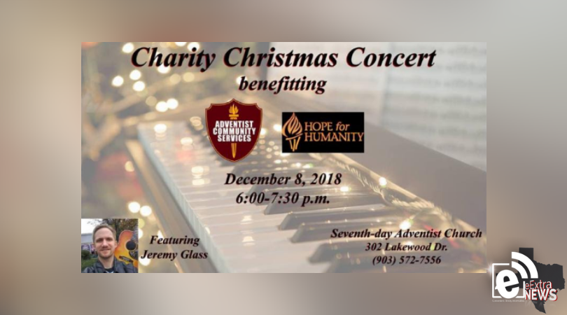 Jeremy Glass to perform at charity Christmas concert Dec. 8, 2018