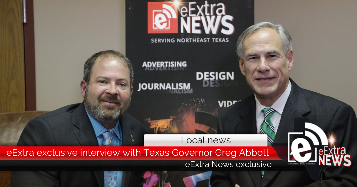eExtra exclusive interview with Texas Governor Greg Abbott