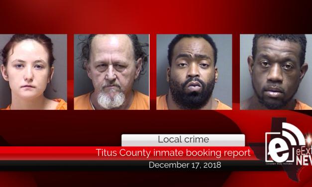 Titus County inmate booking report || December 17, 2018
