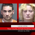 Titus County inmate booking report || January 14, 2019