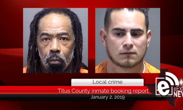 Titus County inmate booking report || January 2, 2019
