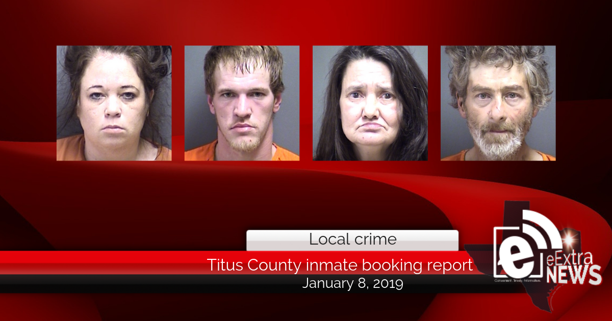 Titus County inmate booking report || January 8, 2019