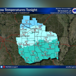 Overnight lows in the mid-20s tonight || Weather outlook
