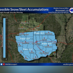 Chilly day ahead, wintry mix possible tonight || Weather outlook